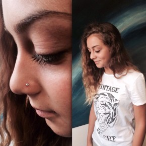 Nostril and T-shirt by TwentyNine Tattoo